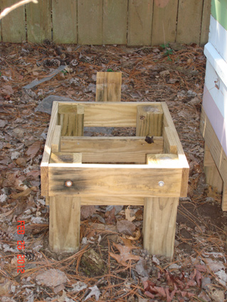 Wood Pe Hung Share Elevated Bee Hive Stand Plans